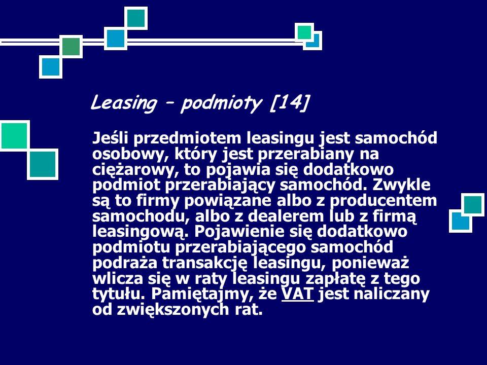 Leasing – podmioty [14]